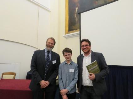 Me with Prof. David MacDonald and Dr Ben Garrod