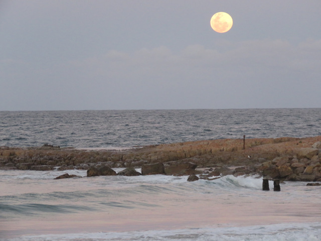 Full moon over Plettenberg bay